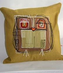 zoe keeton owl cushion