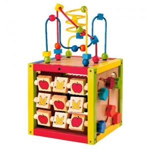Wooden Activity Cube From Whisper It Tesco