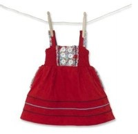 Girl's Molly 'n' Jack Red Broderie Dress