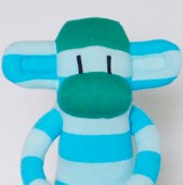 Blue and Green Stripey Monkey