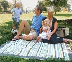 striped picnic blanket by JJ Cole