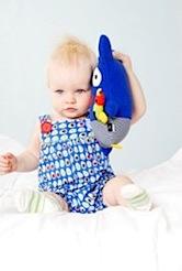 Sunday Baby Suit - Dino Eggs by oobi baby