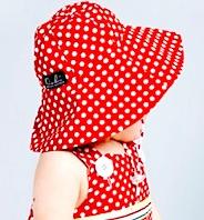 Bridgette Hat - red Dots by oobi baby