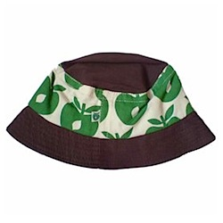 Green and brown apple sun hat by smafolk