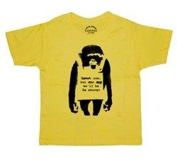 Banksy Laugh Now Boys T-Shirt