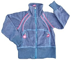 Kik*Kid - blue terry zip up jacket