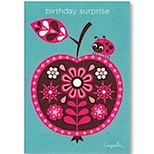 Ladybird Recycled Birthday Card