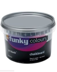 B&Q Funky Colours Chalkboard Effect Paint Jet Black 500ml, 0000003423547.jpg