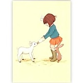 Belle and Boo Lambie - Blank Greeting Card