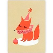 Darling Clementine Fox Greeting Card