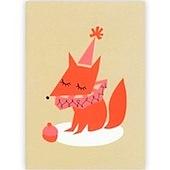 Darling Clementine Fox Greeting Card