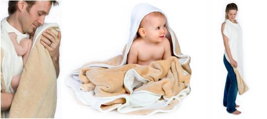 Cuddledry Baby Apron Bath Towel