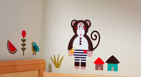 Michael the Monkey Wall Stickers