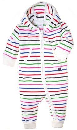 PO.P striped overall with hood