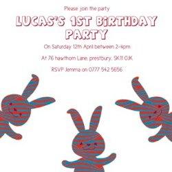 cococards bunny invite
