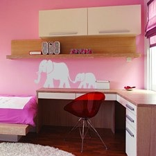 elephant set of wall stickers