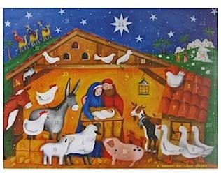 Country Nativity Advent Calendar
