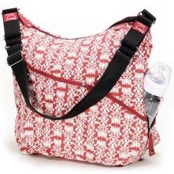 morrocon print babymel changing bag red