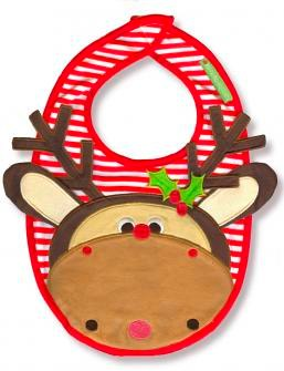 Maximillian the Moose bib by Olive and Moss