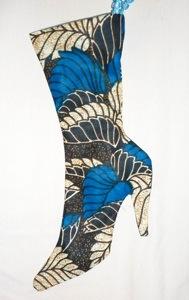 Chic heeled Christmas stocking