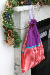 girls santa sack