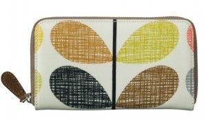 Orla Kiely Shiny Scribble Stem Big Zip Wallet