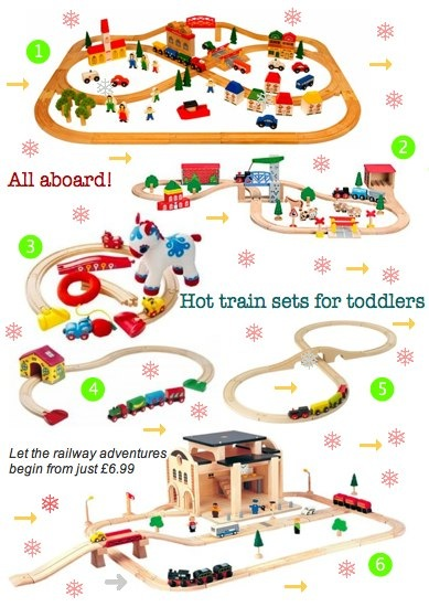 Bambino Goodies Christmas Guide to cool train sets for toddlers by Brio, Bigjigs, Ikea, Plan Toys