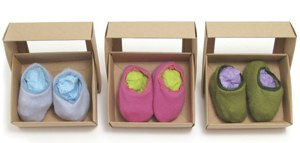cashmere booties by Little Davis in a selection of colours