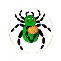 Wooden Spider Spinning Top by Lanke Kade