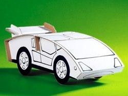 cardboard sports car by calafant