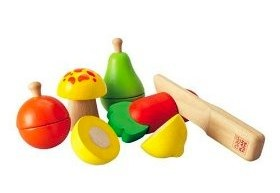 plan toys fruit and veg cutting set