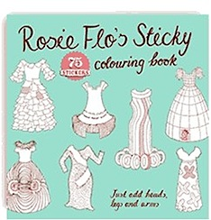 rosie flo sticky colouring book