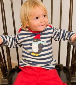 frugi striped penguin top