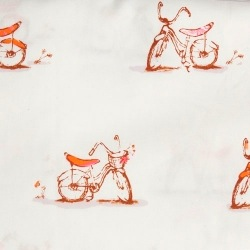 Fitted cot sheet - Bicyclette