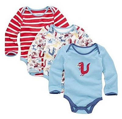 John Lewis Baby Dragon Long Sleeve Sleepsuits