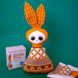 Babushka Bunny Sewing Kit - Orange