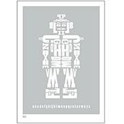 Alphabot Eco Print - Metallic Silver