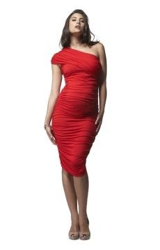 Ruched One Shoulder Dress