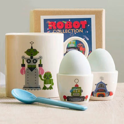 Robot Egg Cups by Clifford Richards