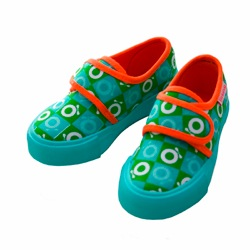 Katvig Green Chequered Canvas Sneakers with Orange Trim Katvig Green Chequered Canvas Sneakers with Orange Trim Katvig Green Chequered Canvas Sneakers with Orange Trim