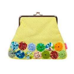 Framed makeup bag with Fabric by rice.dk