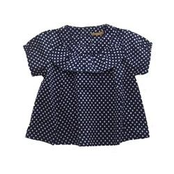 Gold - BETH blouse (polka dots)