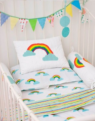lulu & nat rainbow bedding