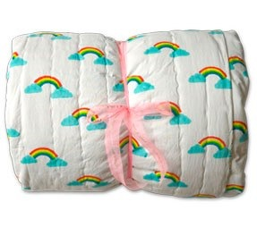 lulu & nat rainbow single quilt
