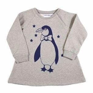 Penguin Sweatshirt Dress by Mini Rodini