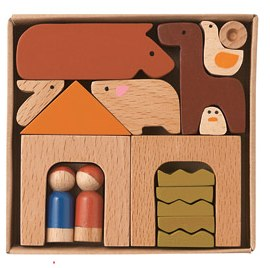 MUJI Wooden Farmyard Play Set