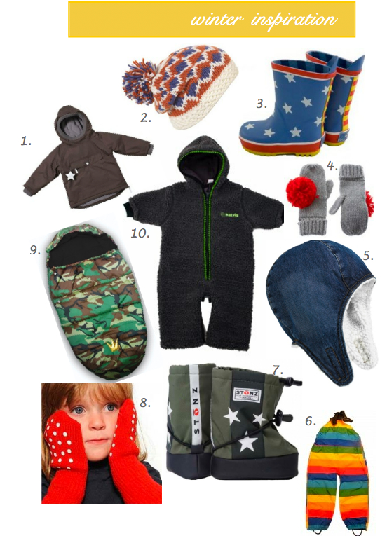 winter inspiration hats, coats, gloves and accessories for babies, toddlers, and preschoolers