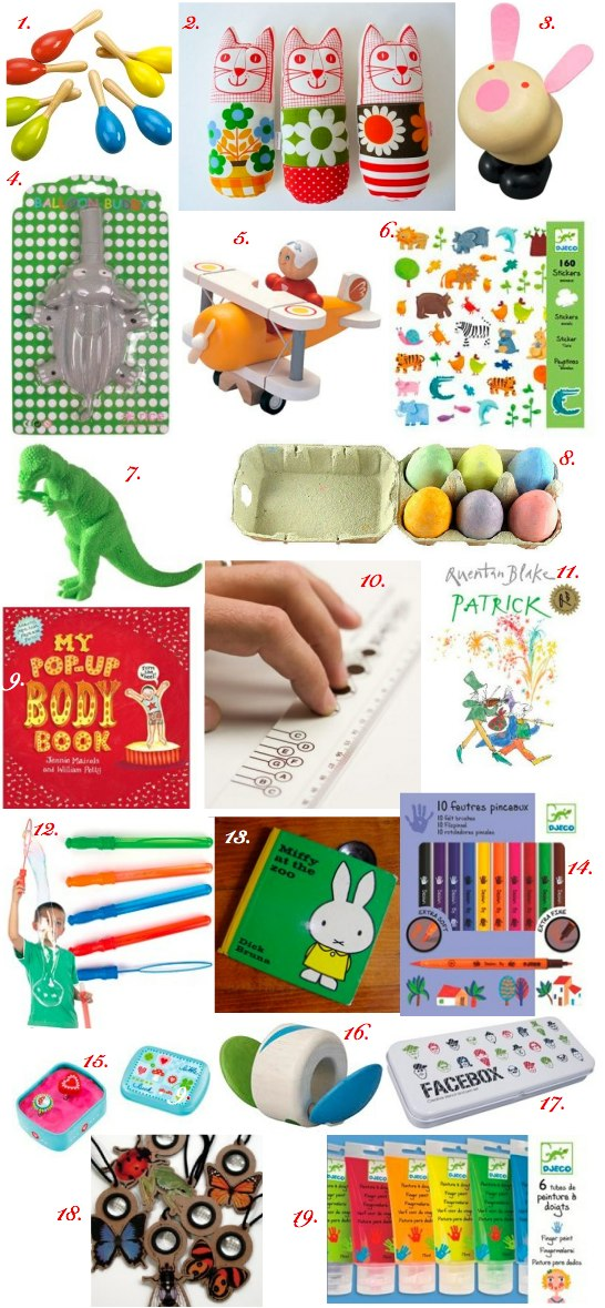 cool stocking fillers for babies, toddlers, and preschoolers
