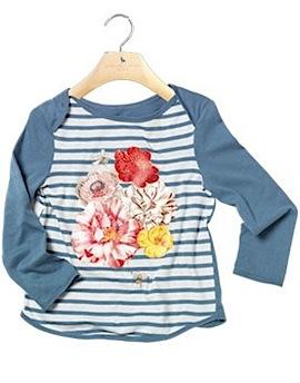 Lara tee: Girls' organic cotton printed t-shirt by Stella McCartney Kids