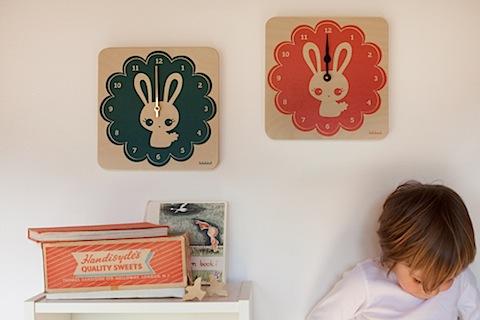 LulaBunnies Clocks by Lulabird